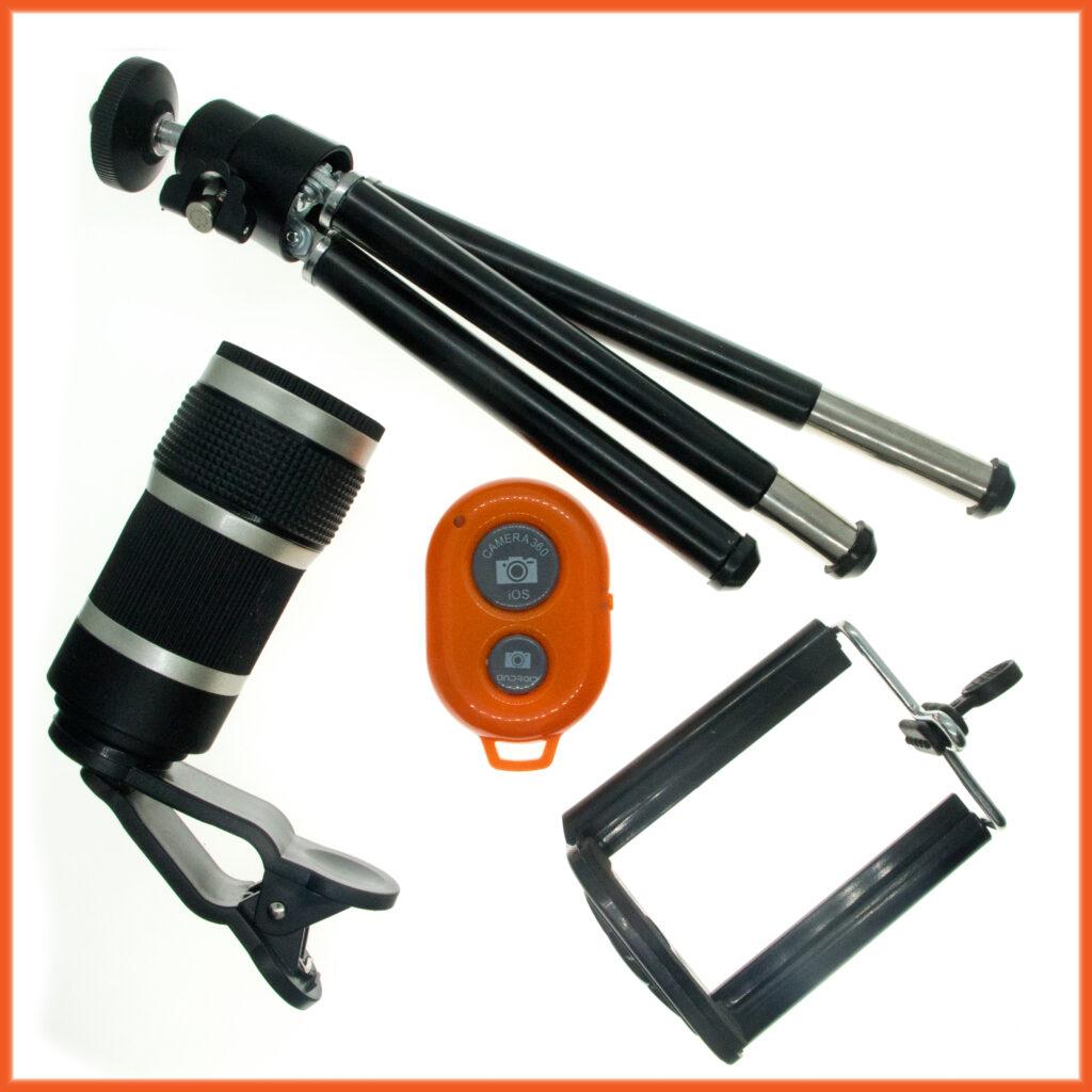 8 x telephoto lens set