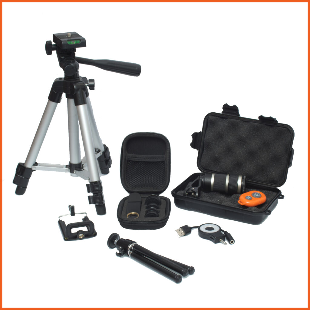 image shows the kit included in a large combo including a tripod